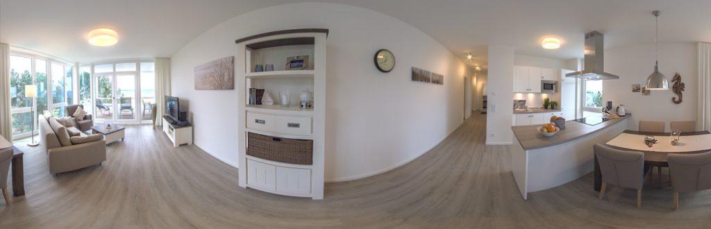 360 Grad Panorama Fotografie für die Ferienwohnung